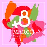 Women's day card. Women's day card. 8 March, international women`s day background stock illustration