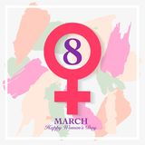 Women's day card. 8 March, international women`s day background Stock Illustration