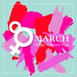 Women's day card. Women's day card. 8 March, international women`s day background royalty free illustration