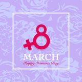 Women's day card. 8 March, international womens day floral background Royalty Free Illustration