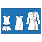 Women's  fashion Sleepwear vector  set Royalty Free Stock Photo