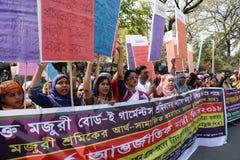 Women's internazionali Bangladesh osservato giorno immagini stock libere da diritti