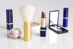 Women's makeup assortment Royalty Free Stock Photos