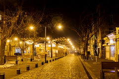 Women's marknad vid natt i Sofia, Bulgarien Royaltyfri Bild