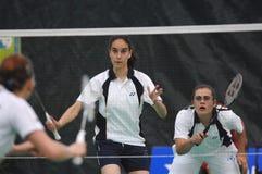 Women´s doubles badminton Stock Photography
