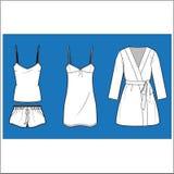 Womenâs mody Sleepwear wektoru set Zdjęcie Royalty Free