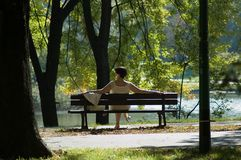 Women. Sitting in the park Stock Photography