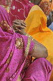 Women. With colorful saris in Varanasi, India Royalty Free Stock Images
