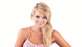 Women. Portrait of wonderful blond women, studio shot Royalty Free Stock Photography