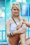 Women. Wonderful blond women-outside shot Stock Image