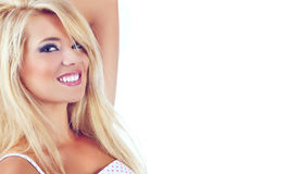 Women. Portrait of wonderful blond women, studio shot Royalty Free Stock Photo