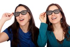 Women with 3D glasses Stock Photography