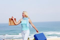 Womens shopping  Royalty Free Stock Photo