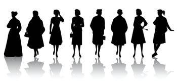 Women. Vector silhouette set of women Royalty Free Stock Image