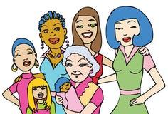 Women. Image representing diversity of women vector illustration