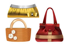 Women accessories � 3 designer handbags Stock Images