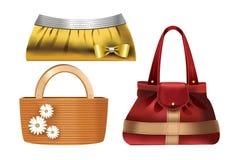 Women accessories – 3 designer handbags Stock Images