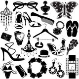 Women accessories vector illustration