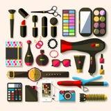 Women accessories. Flat design. Stock Photo