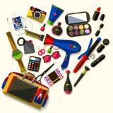 Women accessories. Flat design. Stock Photos