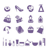 Women accessories icon set Royalty Free Stock Photo