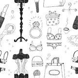 Women accessories seamless pattern Royalty Free Stock Photos
