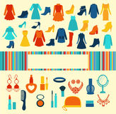 Women accessories Shopping  background Royalty Free Stock Images