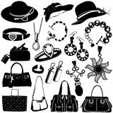 Women accessories vector royalty free illustration