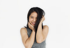 Women Adult Asian Smile Happy Concept. Asian woman smile happy studio portrait Stock Photography