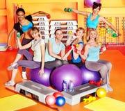 Women in aerobics class. Women group in aerobics class Stock Images