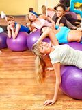 Women in aerobics class. Stock Images