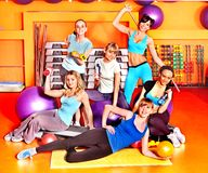 Women in aerobics class. Royalty Free Stock Photo