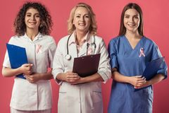 Women against breast cancer stock image