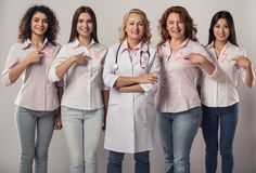 Women against breast cancer royalty free stock image