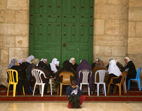 Women at Al Aksa Mosque, Jerusalem, Israel Royalty Free Stock Photography