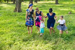 Women of all ages have fun together royalty free stock photography