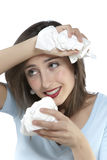 Women with allergies Stock Photo