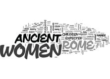 Women In Ancient Rome Word Cloud Royalty Free Stock Photos