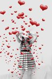 Women And Hearts Coming Out Royalty Free Stock Photo