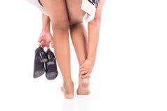 Women ankle sprain Royalty Free Stock Photos