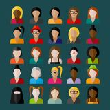 Women appearance icons. people flat icons collection. Women appearance icons. people flat vector icons collection stock illustration