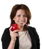 Women with apple Stock Photography