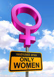 Women only area road sign Royalty Free Stock Images
