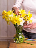 Women Arranging Flowers Stock Image