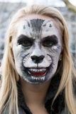 Women as dog on Carnival in Dusseldorf royalty free stock image