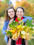 Women in autumn  park Stock Image