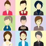 Women Avatar Flash Vector Royalty Free Stock Photos