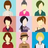 Women Avatar Flash Vector. Women illustration Flash avatar Vector Stock Photography