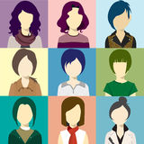 Women Avatar Flash Vector Royalty Free Stock Images