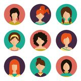 Women avatar set Stock Image